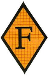 Diamond Applique F embroidery design