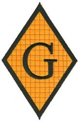 Diamond Applique G embroidery design