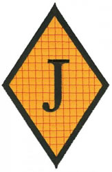 Diamond Applique J embroidery design