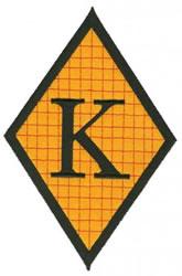 Diamond Applique K embroidery design