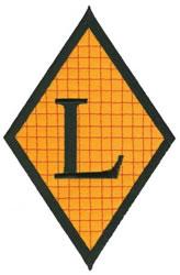 Diamond Applique L embroidery design