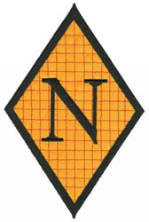 Diamond Applique N embroidery design