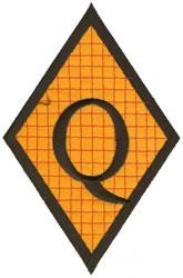 Diamond Applique Q embroidery design