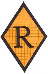 Diamond Applique R embroidery design