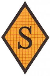 Diamond Applique S embroidery design
