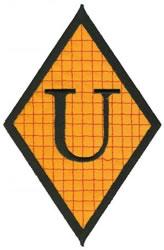 Diamond Applique U embroidery design