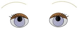 Eyes and Eyebrows embroidery design