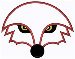 Fox Face Outline embroidery design
