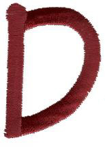 Dot D embroidery design