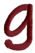 Dot g embroidery design