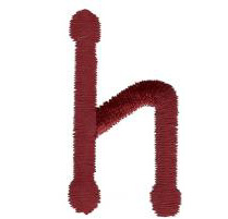 Dot h embroidery design