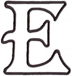 Applique E embroidery design