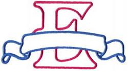 Applique Banner E embroidery design