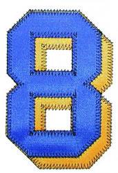 8 Zig-Zag embroidery design