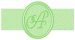 Embossed Letter A embroidery design