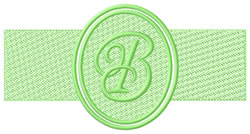 Embossed Letter B embroidery design