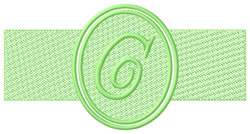 Embossed Letter C embroidery design