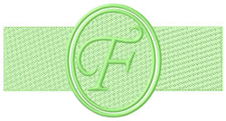 Embossed Letter F embroidery design