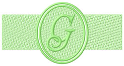 Embossed Letter G embroidery design