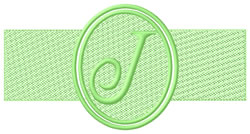 Embossed Letter J embroidery design