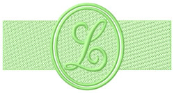 Embossed Letter L embroidery design