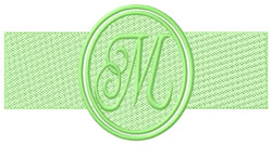 Embossed Letter M embroidery design