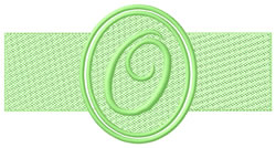 Embossed Letter O embroidery design