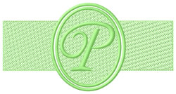 Embossed Letter P embroidery design
