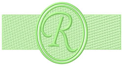 Embossed Letter R embroidery design