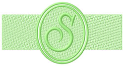 Embossed Letter S embroidery design