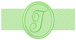 Embossed Letter T embroidery design