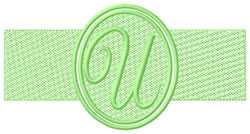 Embossed Letter U embroidery design