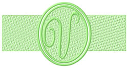 Embossed Letter V embroidery design