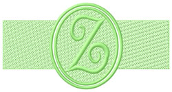 Embossed Letter Z embroidery design