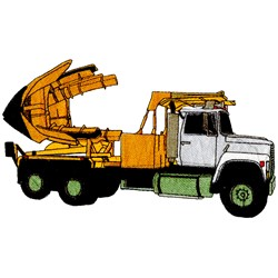 Tree Transport Truck embroidery design