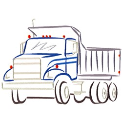 Abstract Dump Truck embroidery design