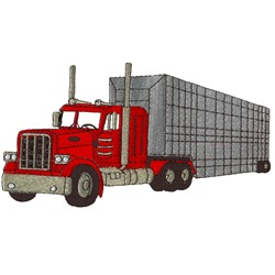 Semi Truck  embroidery design