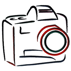 Abstract Camera embroidery design
