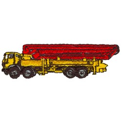 Cement Lift Truck embroidery design
