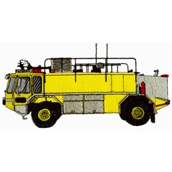 Airport Rescue Truck embroidery design