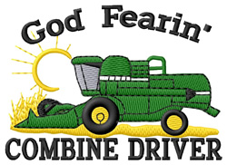 God Fearin Combine Driver embroidery design