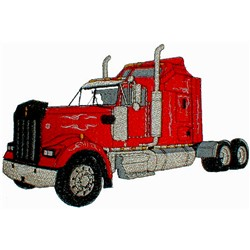 Truck Cab embroidery design