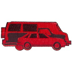 Vehicles embroidery design