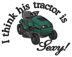 His Tractors Sexy embroidery design