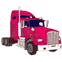 Semi Truck Cab embroidery design