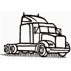 Truck Outline embroidery design