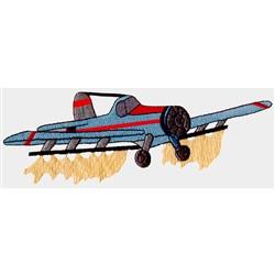 Crop Spray Plane embroidery design
