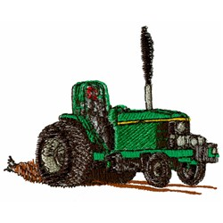 Pulling Tractor embroidery design