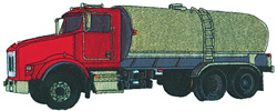 Bulk Truck embroidery design