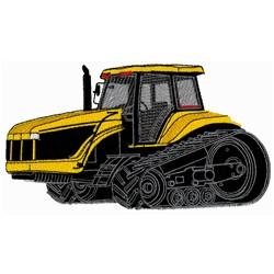 Hi Track Tractor embroidery design